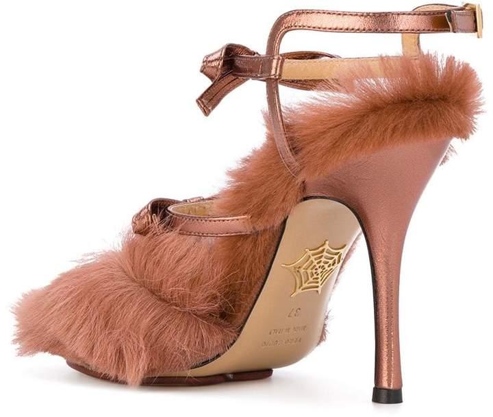 Charlotte Olympia fur pumps