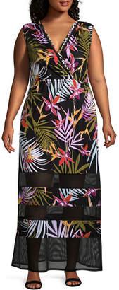 Spense Sleeveless Floral Maxi Dress - Plus