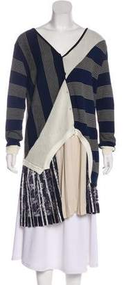 Antonio Marras Knit Pleated Cardigan