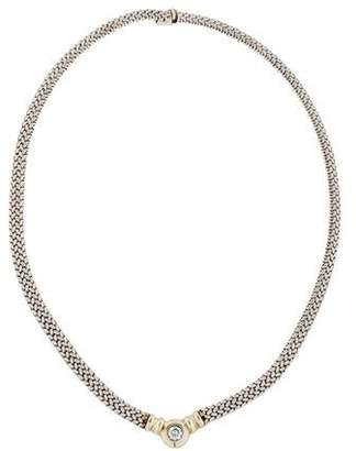 14K Diamond Collar Necklace