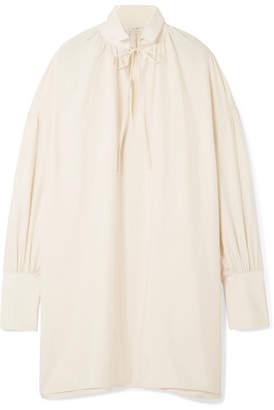 The Row Darma Oversized Silk-poplin Blouse - Off-white