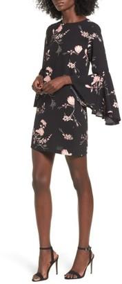 Women's Leith Ruffle Sleeve Shift Dress $69 thestylecure.com