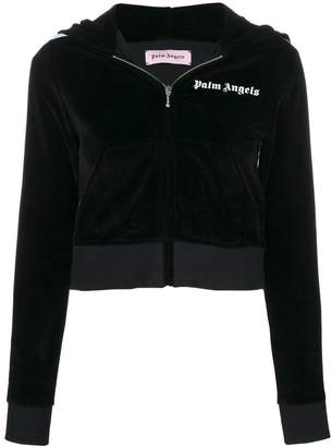 Palm Angels cropped hooded jacket