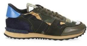 Valentino Camo Rock Runner Sneakers