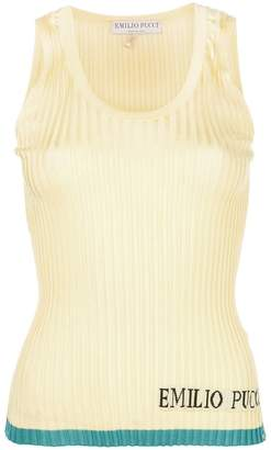 Emilio Pucci colour-block logo ribbed vest