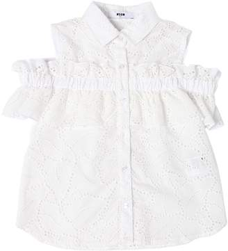 MSGM Cotton Eyelet Lace Shirt