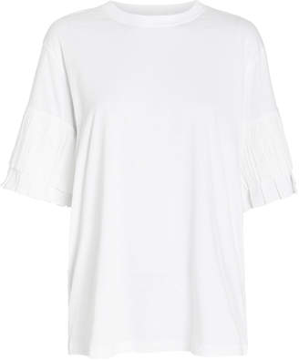 Victoria Victoria Beckham Victoria, Victoria Beckham Pleat Sleeve Jersey T-Shirt