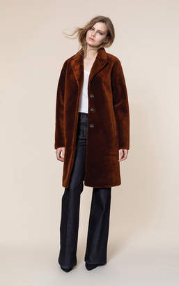 Soia & Kyo RUBINA relaxed fit embossed wool jacket