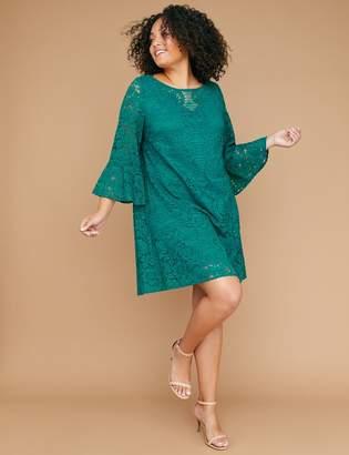 Lane Bryant Flounce-Sleeve Lace Dress