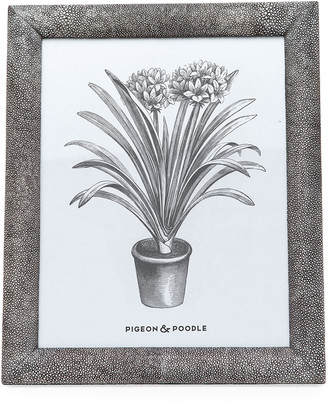 """Pigeon And Poodle Oxford Faux-Shagreen Picture Frame, 8"""" x 10"""""""