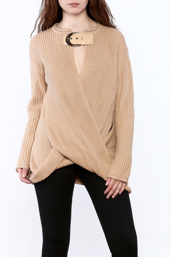 Ecru Taupe Chunky Sweater