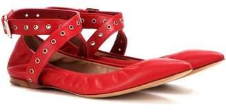 Valentino Love Latch leather ballerinas
