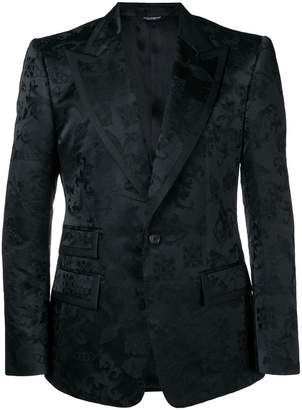 Dolce & Gabbana fitted brocade jacket
