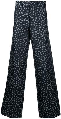 Comme des Garcons Pre-Owned polka dot wide leg trousers