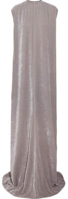 Rick Owens - Audrey Velvet Maxi Dress - Gray $1,785 thestylecure.com