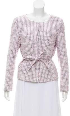 Chanel Tweed Belted Jacket