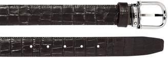 Montblanc 30mm Horseshoe Embossed Leather Belt