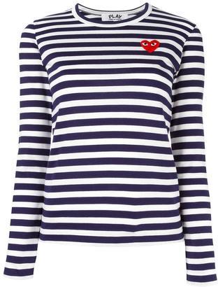 Comme Des Garçons Play striped longsleeved T-shirt $113.96 thestylecure.com