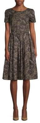 Dolce & Gabbana Printed Cotton Fit-&-Flare Dress