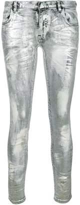 Faith Connexion coated metallic jeans