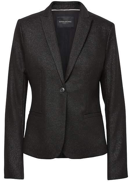 Classic-Fit Metallic Twill Blazer