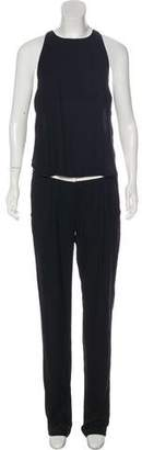A.L.C. Sleeveless Open Front And Back Jumpsuit