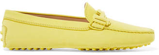 Tod's Gommino Embellished Suede Loafers - Bright yellow