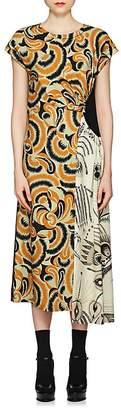 Dries Van Noten Women's Floral & Fern-Print Dress