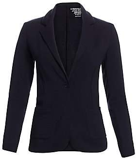 Majestic Filatures Women's French Terry One-Button Blazer