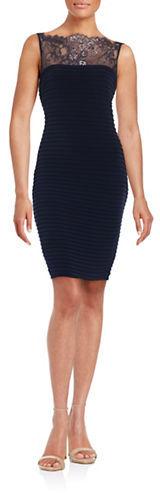 Calvin KleinCalvin Klein Lace-Accented Sheath Dress