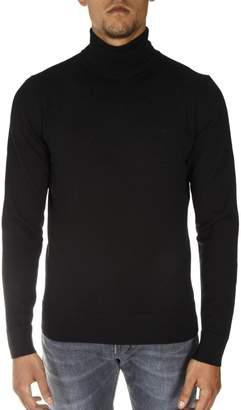 Calvin Klein Black Wool Turtle Neck Sweater
