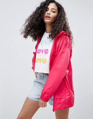 Asos DESIGN Four Pocket Detailed Rain Jacket