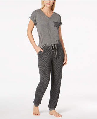 Alfani You will love this Contrast-Pocket Pajama Set