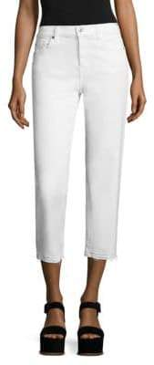 7 For All Mankind Kiki Released-Hem Straight-Leg Jeans