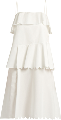 SEE BY CHLOÉ Scallop-edged cotton dress $260 thestylecure.com