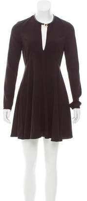 Halston Long Sleeve Mini Dress w/ Tags