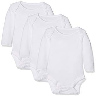 Mothercare My First Long Sleeve Bodysuits - 3 Pack, 9-12 Months (Manufacturer Size:80)