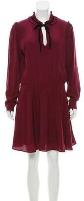 The Kooples Silk Ruffle-Trimmed Dress