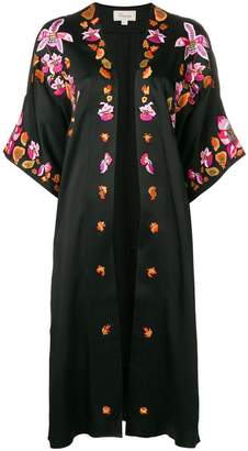 Temperley London embroidered open front coat