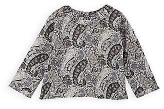 Belle Enfant Infants' Ruffle Paisley Cotton Blouse