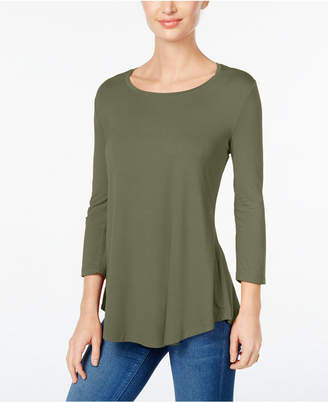 JM Collection Petite Three-Quarter-Sleeve Top