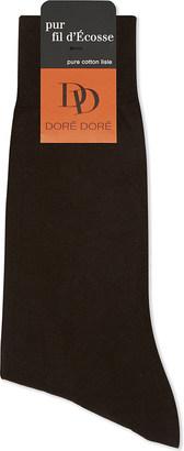 Dore Dore Solid flat knit cotton medium length socks $22.50 thestylecure.com