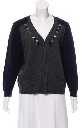 Tara Jarmon Embellished Knit Cardigan
