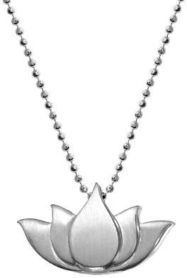 Alex Woo Little Faith Lotus Necklace, 16""