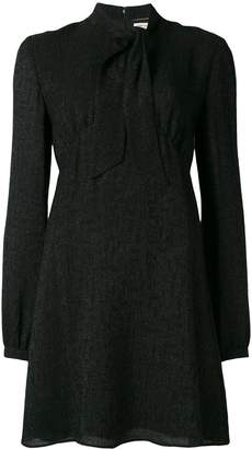Saint Laurent tie neck mini dress