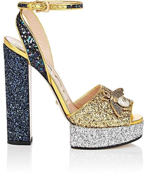 Gucci Women's Soko Glitter Platform Sandals