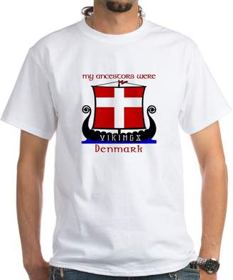 CafePress - Danish Viking Ancestors T-Shirt - Unisex Crew Neck 100% Cotton T-Shirt, Comfortable and Soft Classic Tee with Unique Design