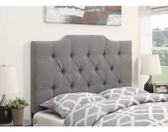 Ash Generic Saddle Back Button Tufted Full / Queen Upholstered Headboard