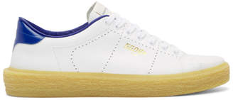 Golden Goose White and Blue Tennis Sneakers