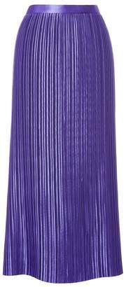 Tibi Plisse Pleated Skirt in Violet